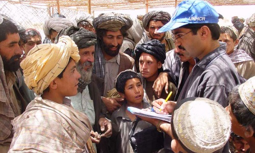 Refugee registration in Pakistan. -Photo courtesy of UNHCR