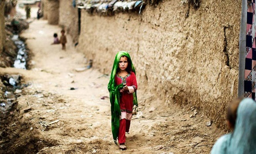 An Afghan refugee girl in Pakistan. -Photo by AP
