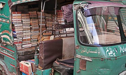 Old books in Karachi's happy street