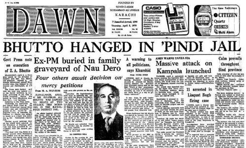 Remember: The day ZA Bhutto was hanged