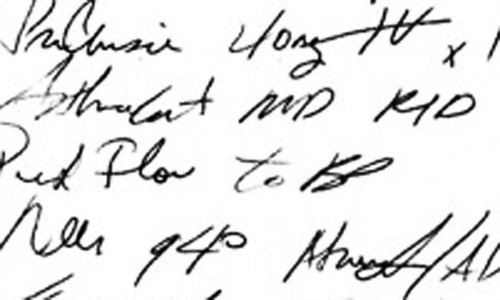 A legible prescription for careless doctors