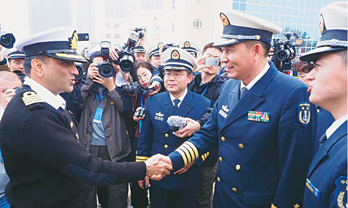 Pakistani ship in China for joint exercise
