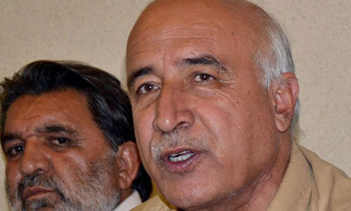 Malik admits security problems in three districts