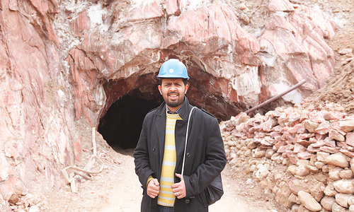 Taha Siddiqui on a reporting trip to the Kalabagh salt mines.