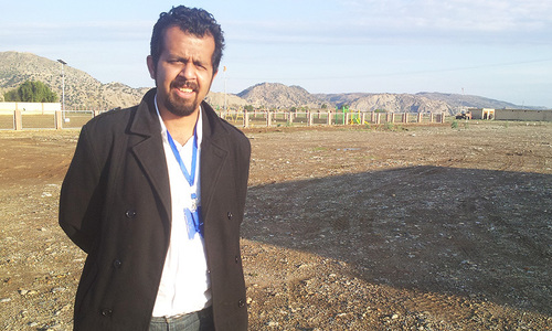 Taha Siddiqui on a reporting trip in South Waziristan