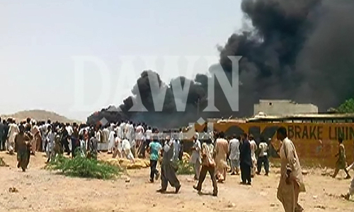 Three killed as PAF jet crashes in Karachi's Baldia Town
