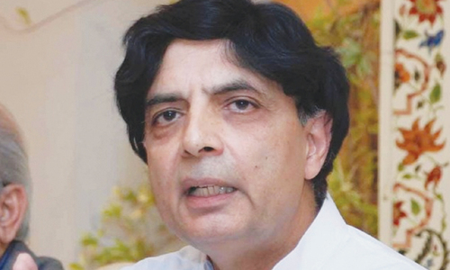 Nisar in Lahore, likely to meet Sharif today