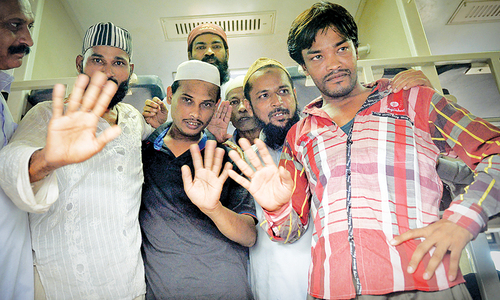 Five fishermen held in Indian jails for 27 months return home