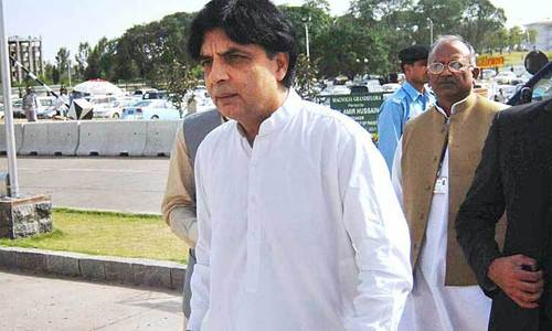 Hatchet buried, Nisar gets back to work