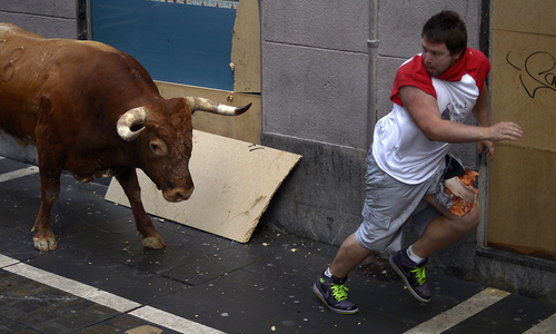 'Bulls' bullied men at Spain festival