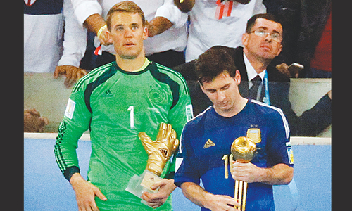 Golden Ball but no glorious end for Messi