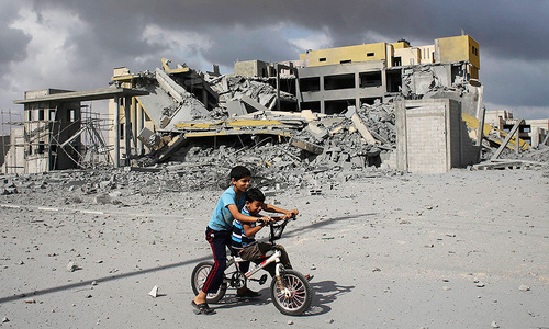 Living in Gaza as the bombs fall - my story