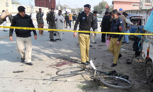 Six killed in Hangu explosion