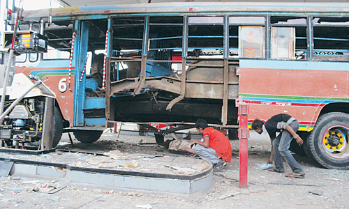 Two killed in bus cylinder blast
