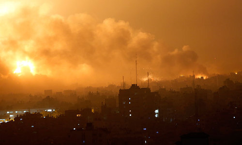 Israeli aircraft hit more than 70 targets in Gaza