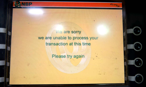 ATM services show no signs of improvement