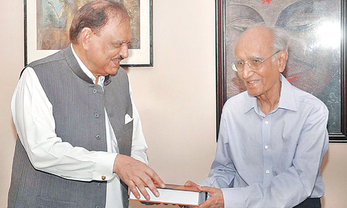 President calls on Yousufi, Danishmand