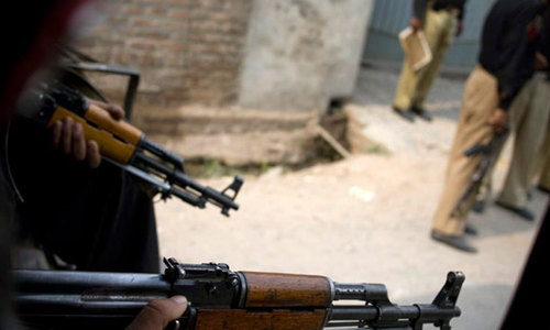 Peshawar police targeted, one killed another injured