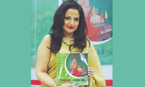 Reema Abbasi's book on temples launched in India