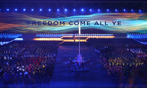 Colourful ceremony opens Commonwealth games in Glasgow