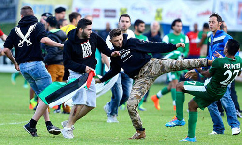 Protesters attack Israeli football team in Austria