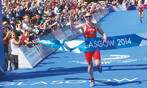 Stimpson wins first gold in Glasgow