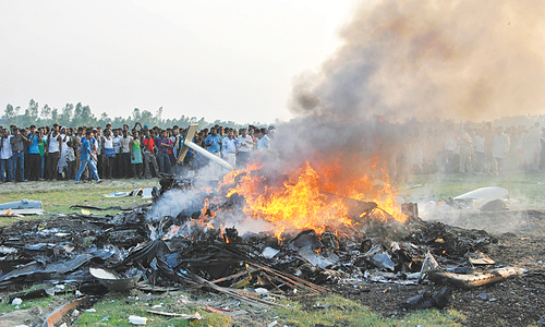 Seven feared dead in Indian Air Force chopper crash