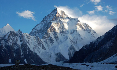 Celebrating 60 years of K2, with the Pakistani flag on top