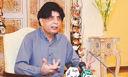 Life of key politicians under threat: Nisar