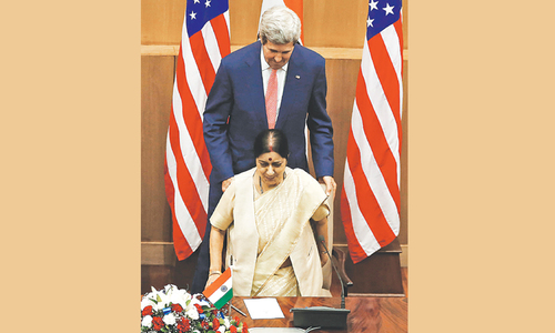 Kerry in Delhi to revive ties after friction