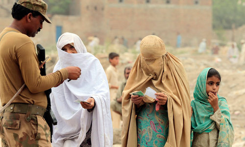 Widows, wives flee Waziristan fighting but are denied aid