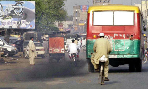 'City air heavily polluted with lead, cadmium and CO'