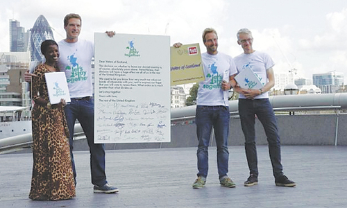 Celebrities call for Scotland no vote
