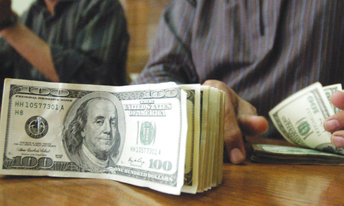 Dollar hits 40-day high against rupee