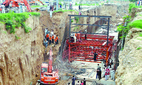 Two labourers killed, four injured in mudslide