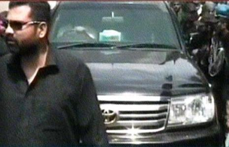— Screengrab shows SUV in which Imran Khan and other senior leaders are travelling