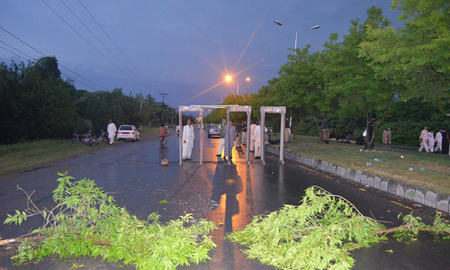 View from Zero point in Islamabad