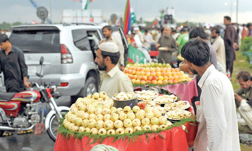 Food items selling like hot cakes