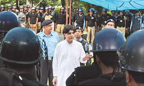 Protesters face security threat: Nisar