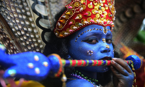 Celebrating the incarnation of Krishna