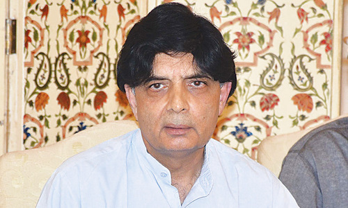 Marchers call  Nisar's bluff