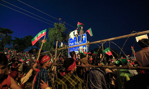 PTI marchers given tips on how to face teargas shelling