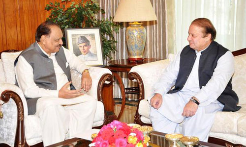 Nawaz, Mamnoon discuss political situation