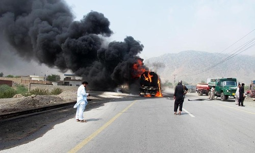 Attack on Nato supplies convoy kills two on Pak-Afghan Highway