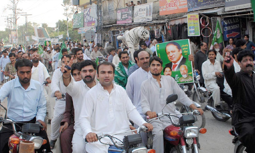 Separate rallies expose rifts within PML-N Rawalpindi