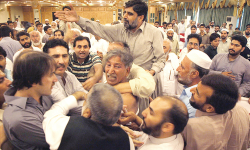 Unruly scenes witnessed during PML-N meeting
