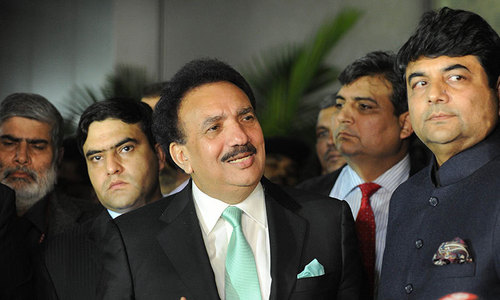Govt strategy to resolve political crisis unclear: Rehman Malik