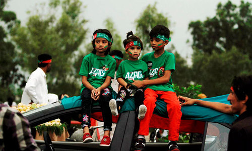 Children taking part in sit-in to be given polio vaccine