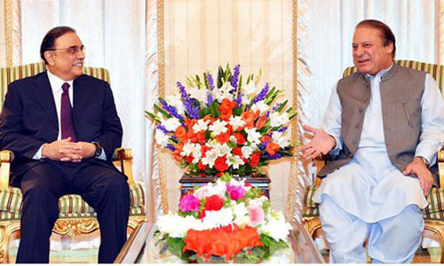 Lunch in Raiwind: Nawaz, Zardari chew on solution to deadlock