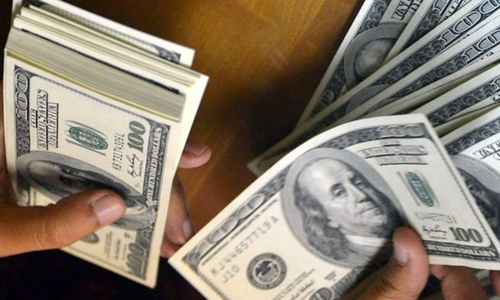 Dollar hits six-month high against rupee